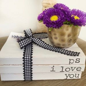 Other - PS I Love You Decorative Hand Stamped Books